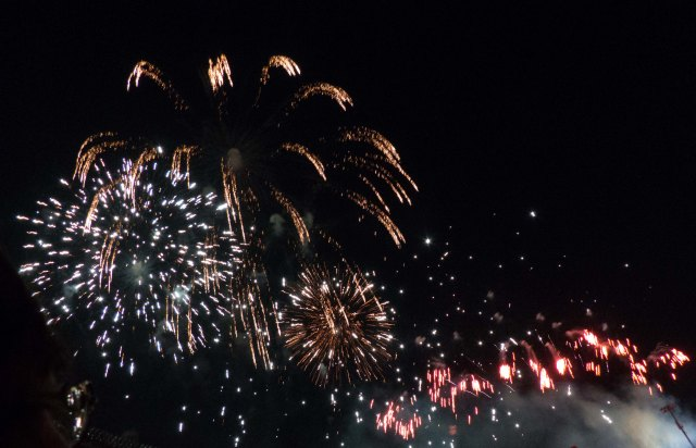 Firework at Rose Bowl Stadium