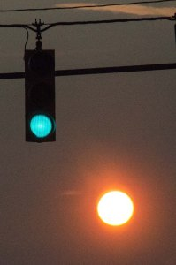 Green light and the sun