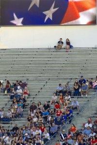 Crowd at Rose Bowl Stadium