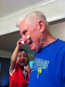 V and Grandpa