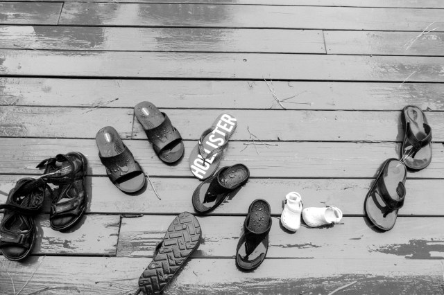 shoes in Rain