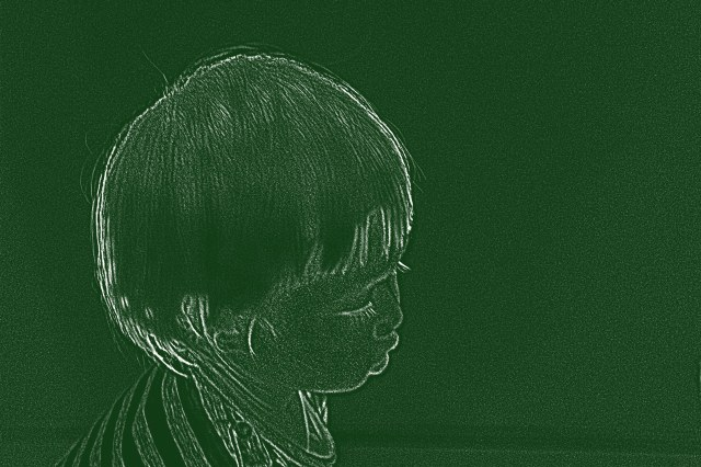 A girl (Photocopy filter)