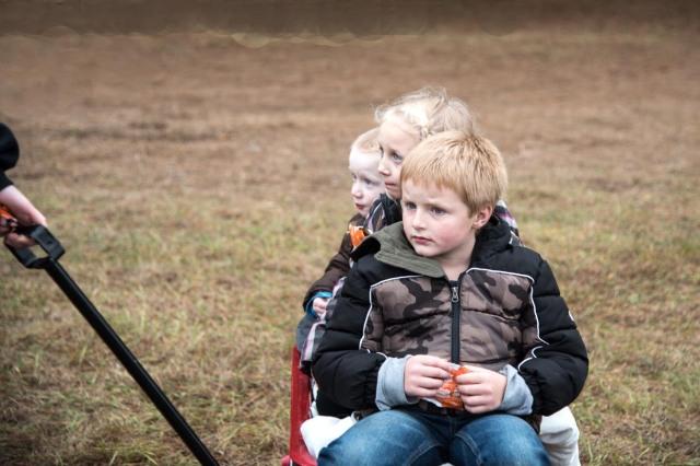 Cousins at tree farm